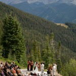 Aspen Mountain Wedding deck photo