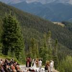 Aspen Mountain Wedding deck photo